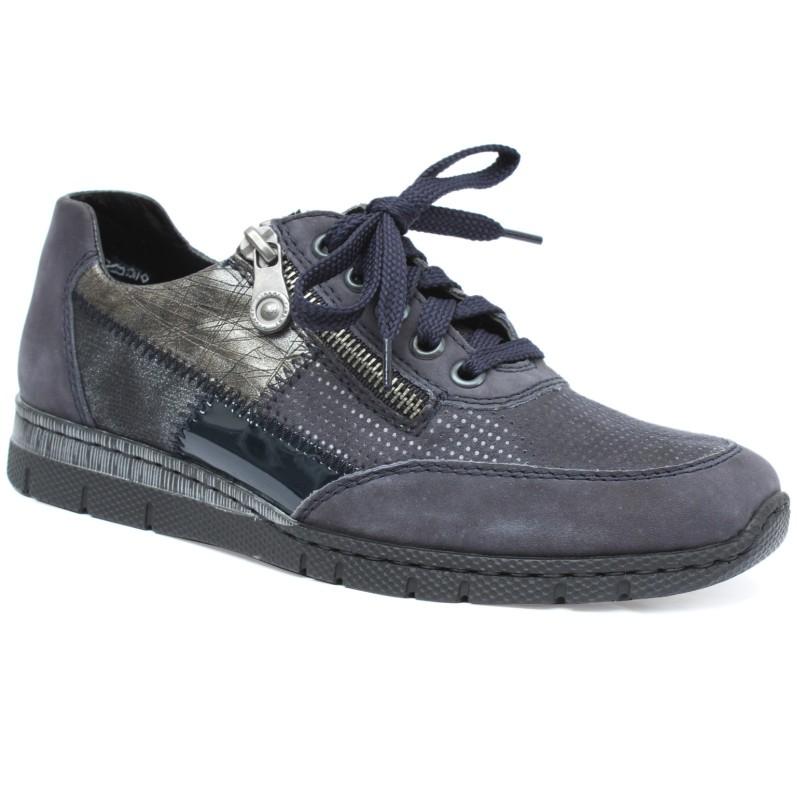 Rieker női sportos félcipő N5320-15 blau kombi 04782