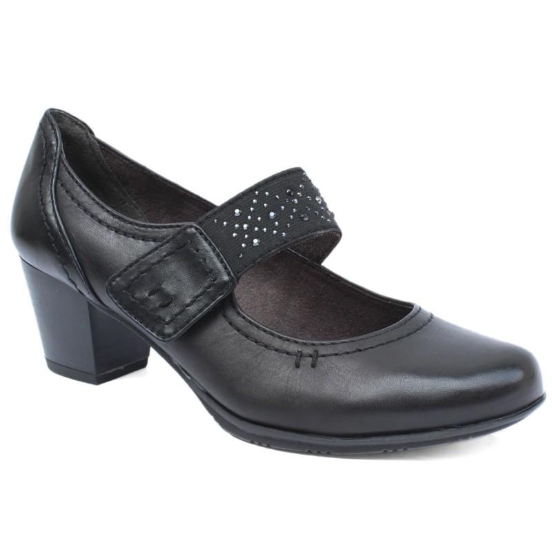 Jana női tépőzáras félcipő 24405-21-001 black 04680