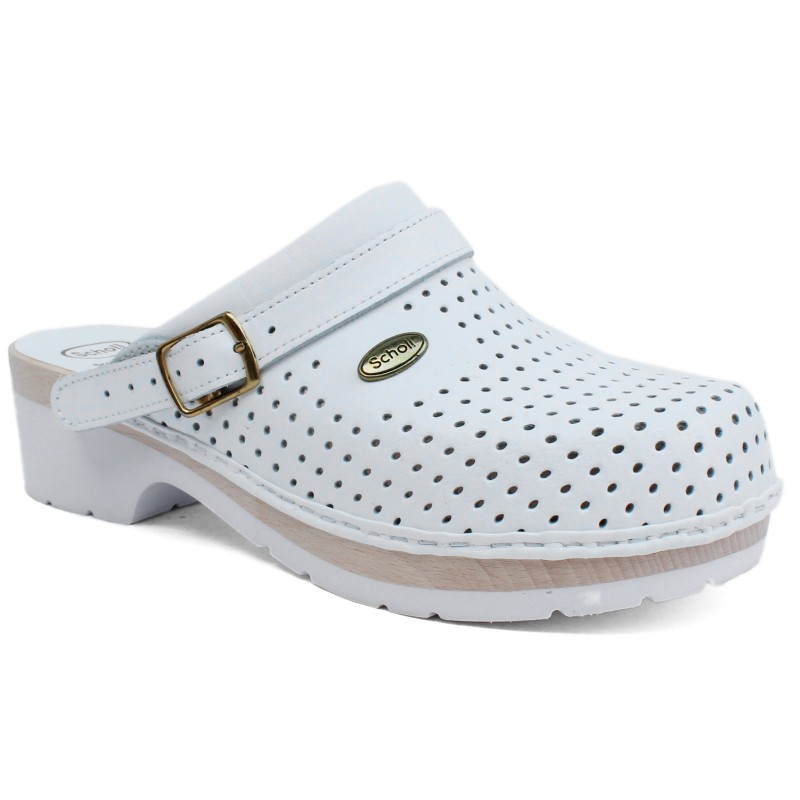 Scholl ClogS Comfort BS-CE fatalpú klumpa fehér 00394