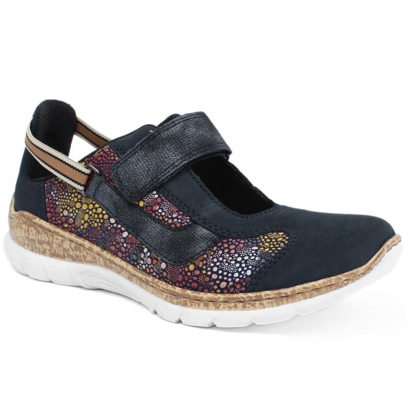 Rieker női tépőzáras félcipő N42R8-14 Namur/Scuba 04973