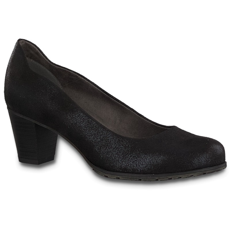Jana Soft Line női pumps 22467-22-012 black metallic 04851