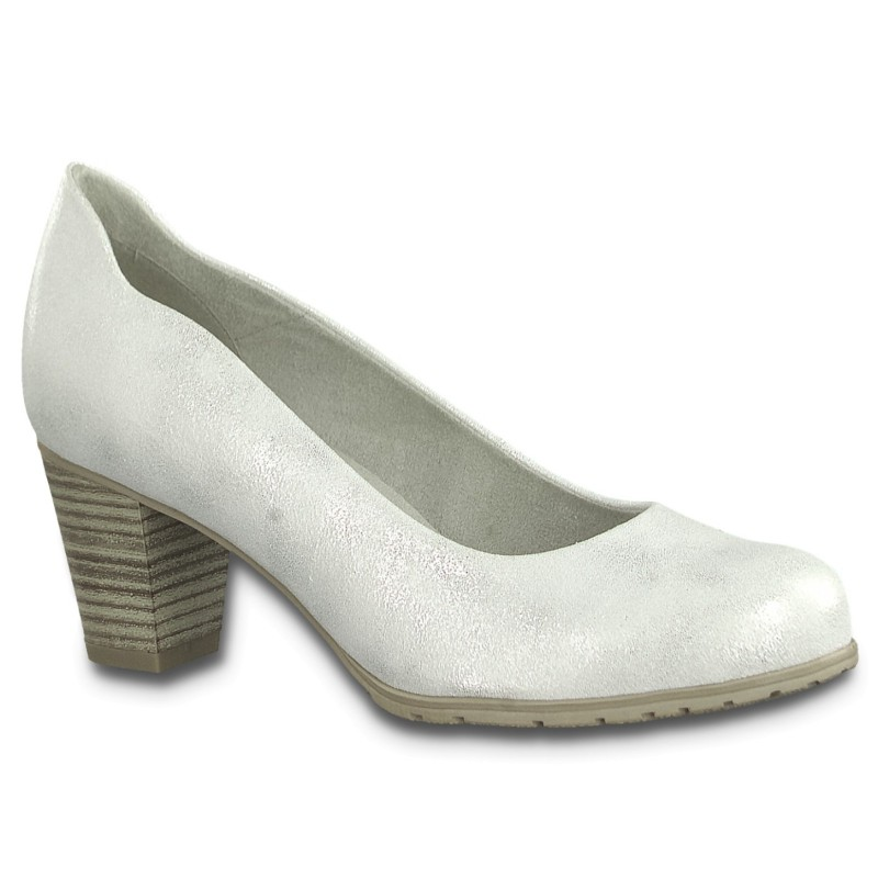 Jana Soft Line női pumps 22467-22-191 white-silver 04852