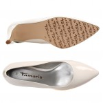 Tamaris női pumps 22447-22-123 white patent 04866