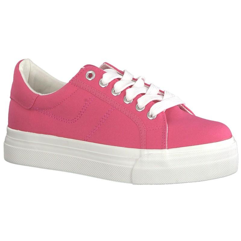 Tamaris női vászoncipő platformos 23602-22-510 pink 04868
