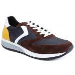 Sailors férfi sportos sneaker cipő 2576-2473 kék, barna, sárga fehérr mix 05170 Férfi Skechers