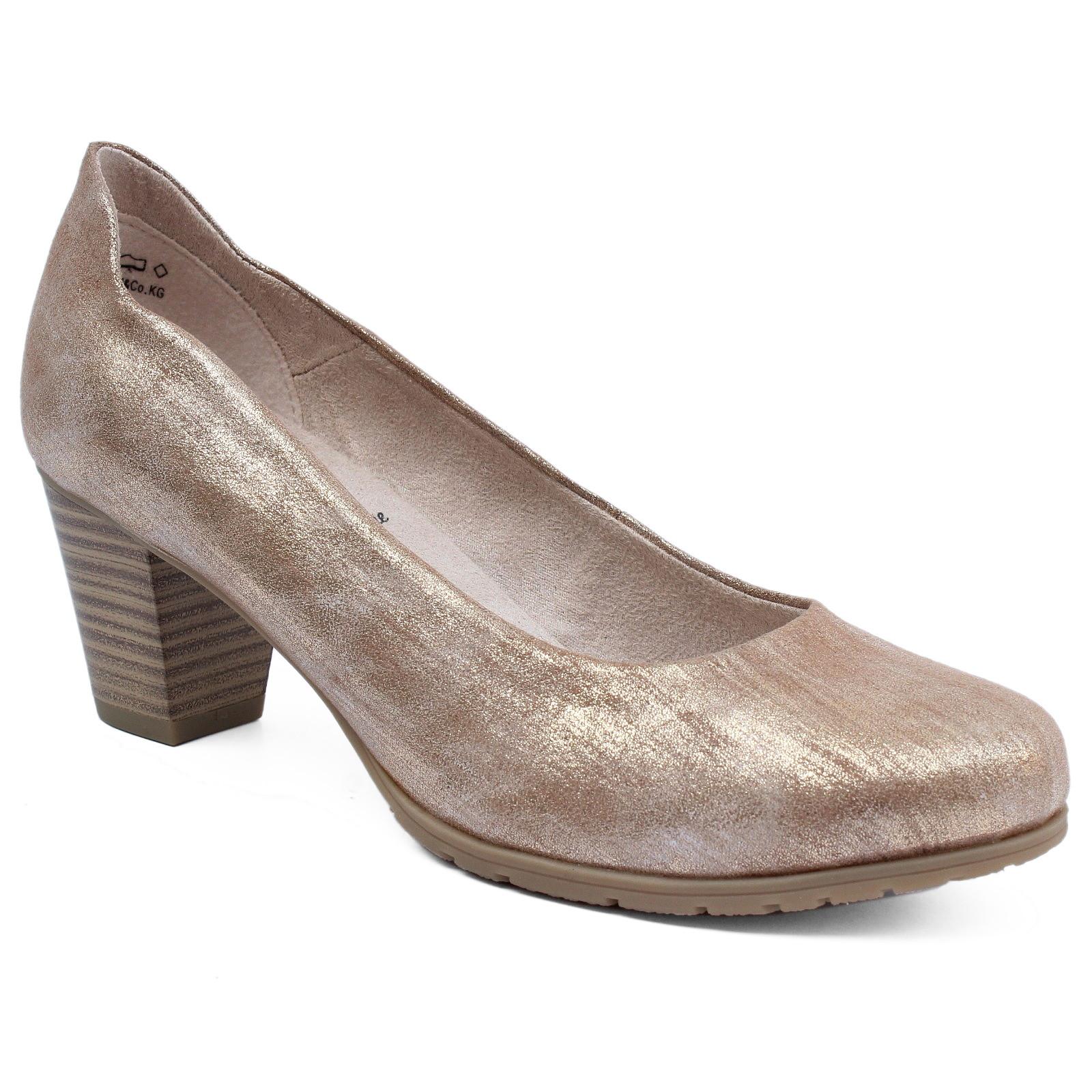 Pántos Jana cipő 3,5 cm magas éksarokkal, H szélességű talppal