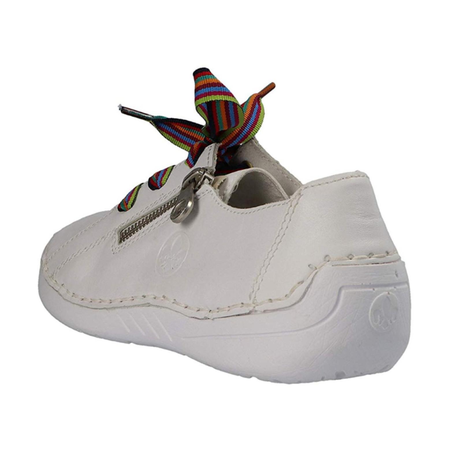 Rieker női sportos fűzős fehér félcipő 52511 80 Newark