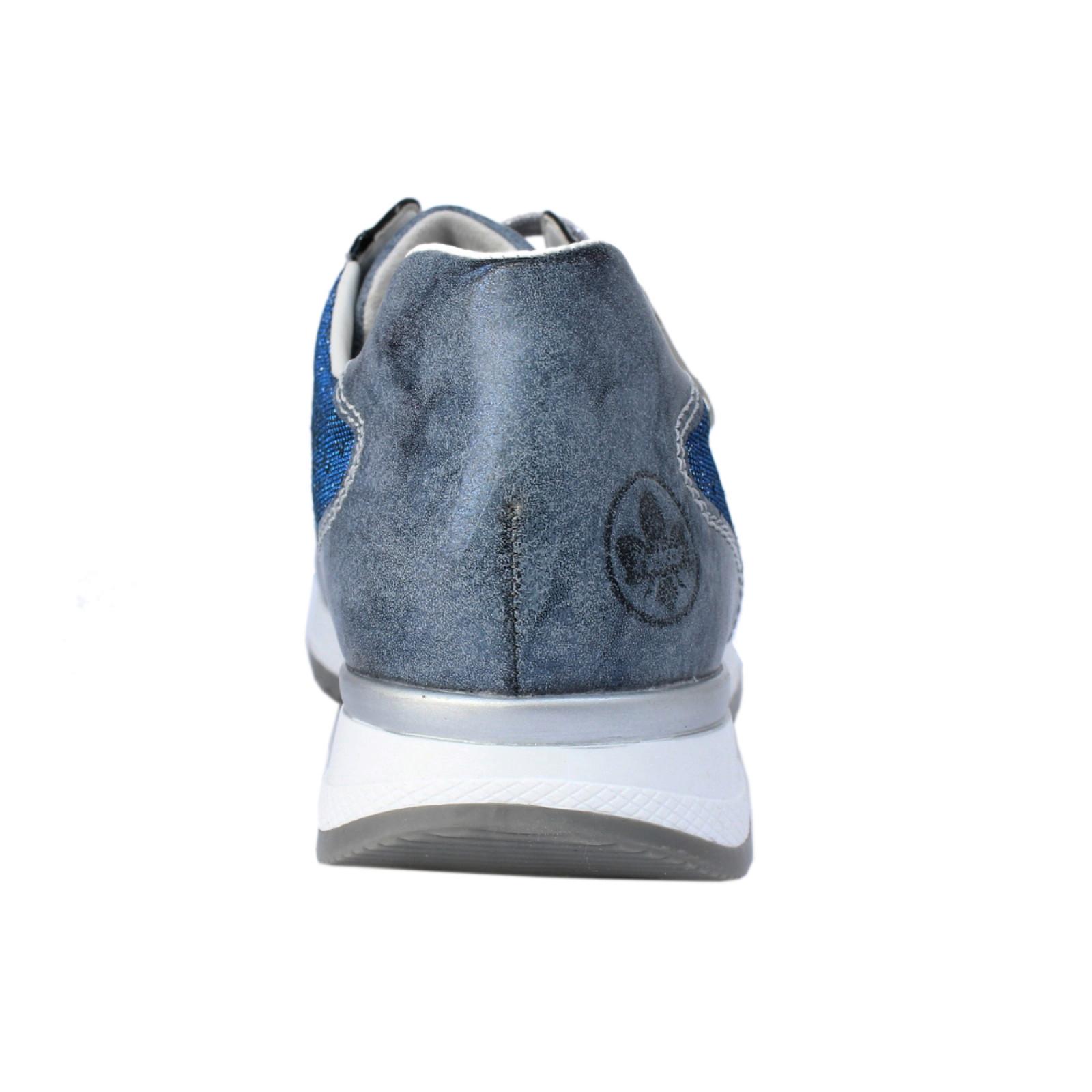 Rieker női sportos fűzős cipzáras félcipő N7025 14 Guamo kék