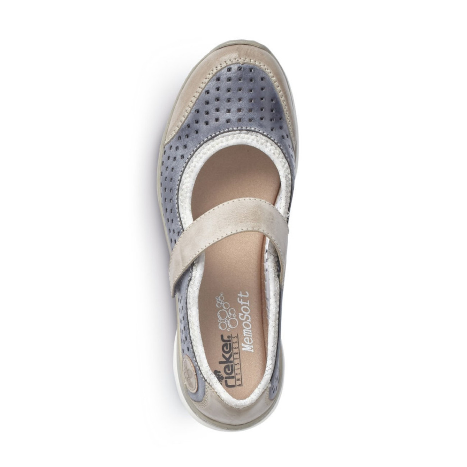 Rieker női pántos balerina cipő 53985