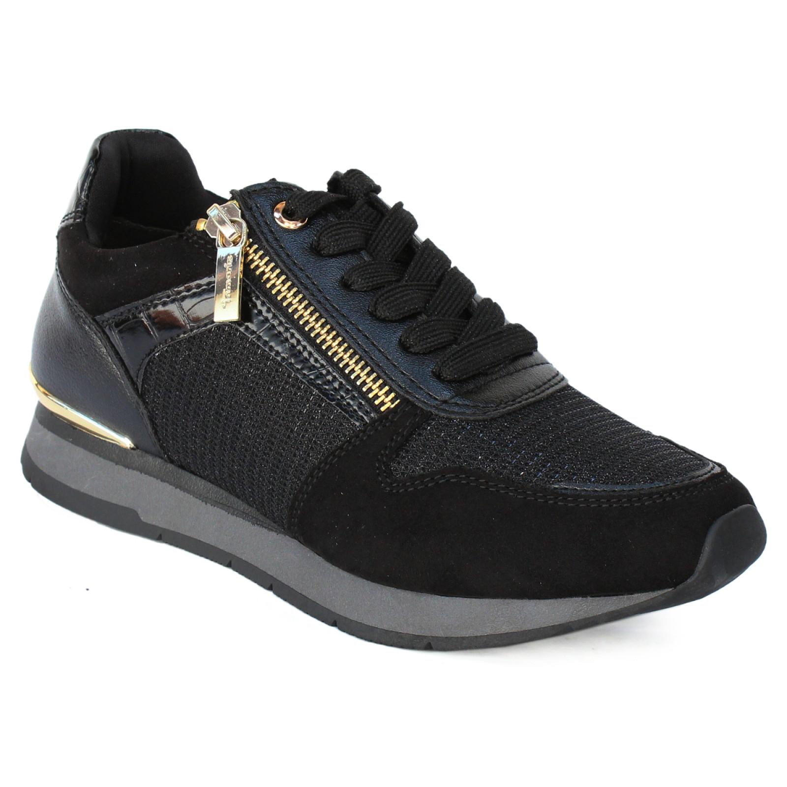 Tamaris női sportos sneaker félcipő 23603 25 048 fekete