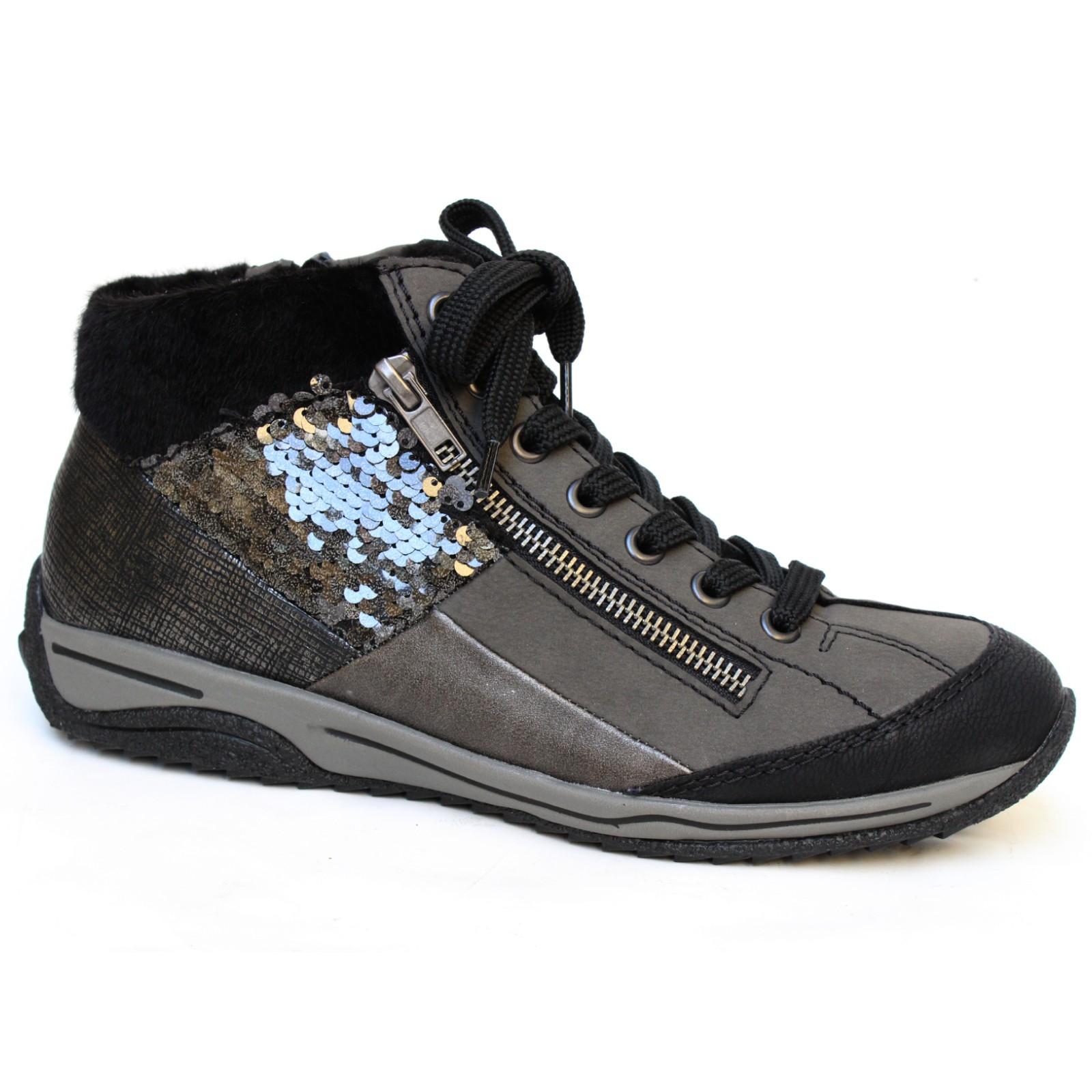 04242 Rieker női fűzős-cipzáras bokacipő L5234-01 Mombasa - Női ... 9c015b2ecd