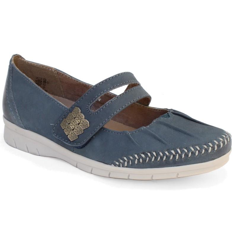 Jana  női pántos félcipő 24611-20-846 jeans 04366