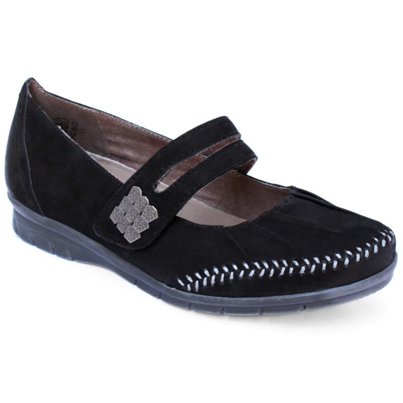 Jana  női pántos félcipő 24611-20-001 black 04365