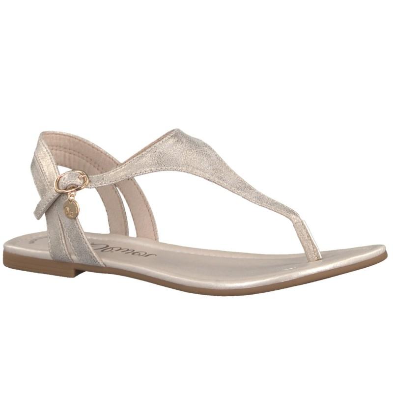 S.Oliver női lábujjközös szandál 28126-20-948 gold 04396