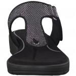 Marco Tozzi  női lábujjközös papucs 27101-20-239 anthracit metal 04536