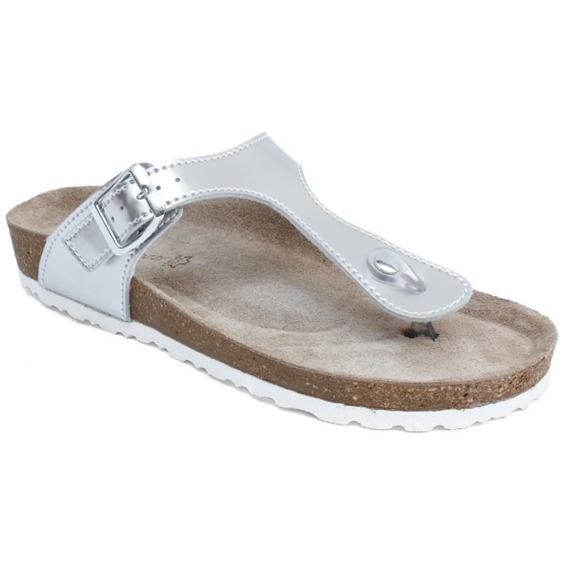 Marco Tozzi női lábujjközös papucs 27400-20-980 mirror silver 04541
